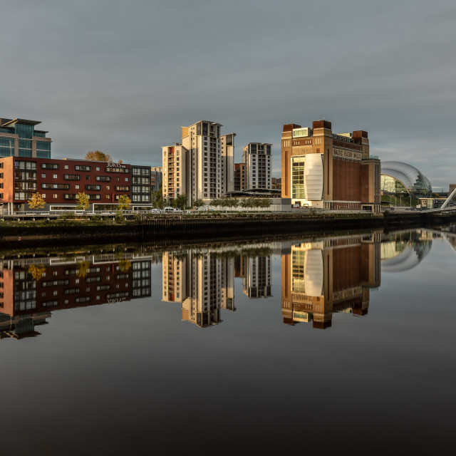 """Gateshead Quayside Reflections"" stock image"