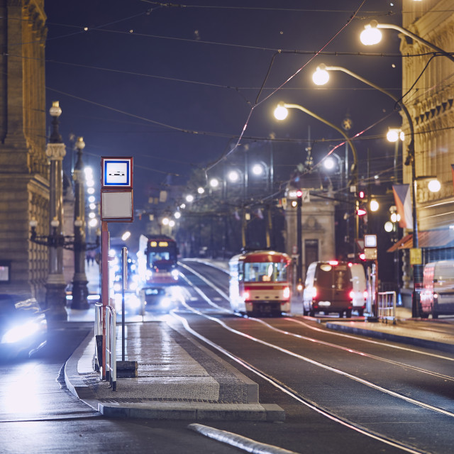 """""""Night traffic in the city"""" stock image"""