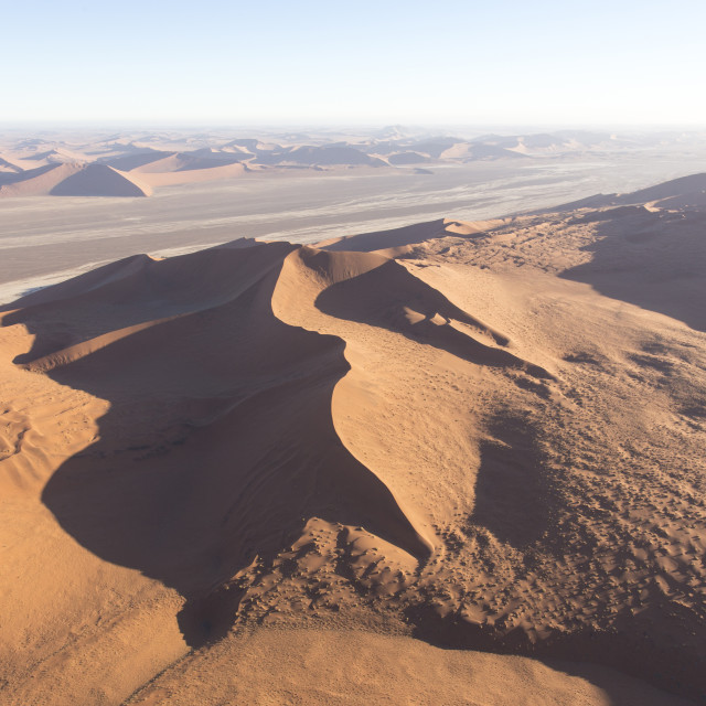 """""""helicopter view of sossusvlei"""" stock image"""