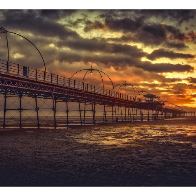 """Southport Pier Sunset"" stock image"