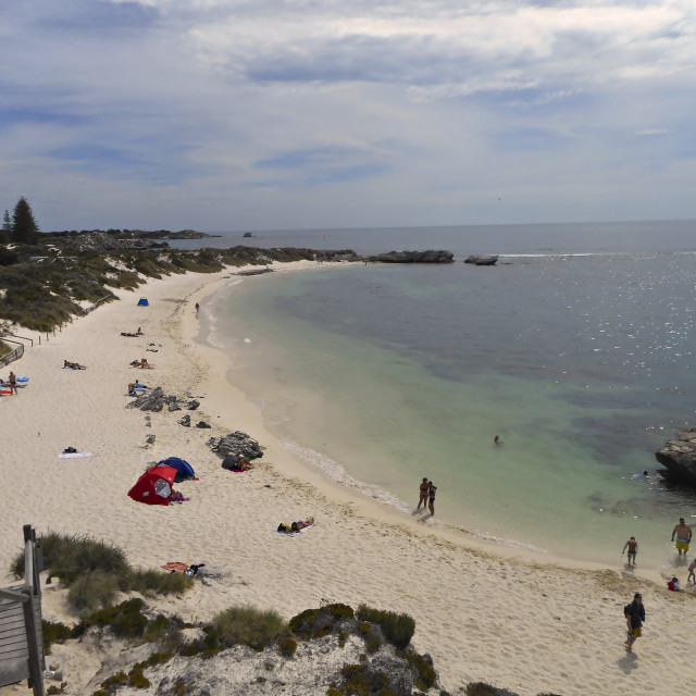 """Pinky beach,rottnest island,western Australia"" stock image"