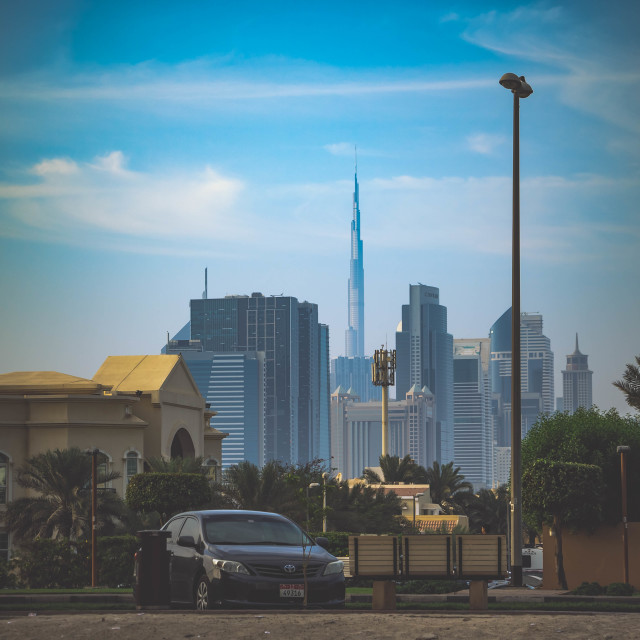 """City View Burj Khalifa"" stock image"
