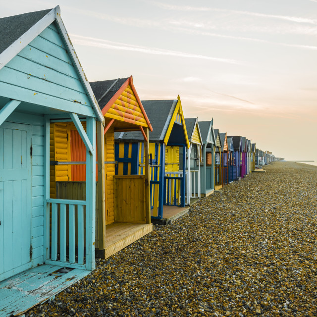 """Endless Beach Huts"" stock image"
