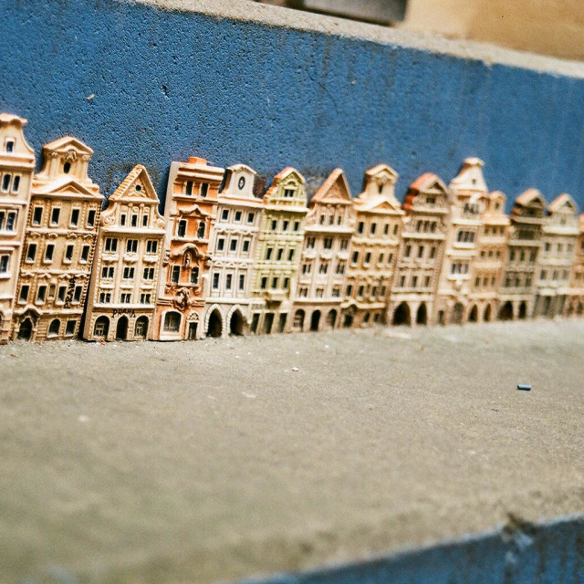 """miniature Prague"" stock image"