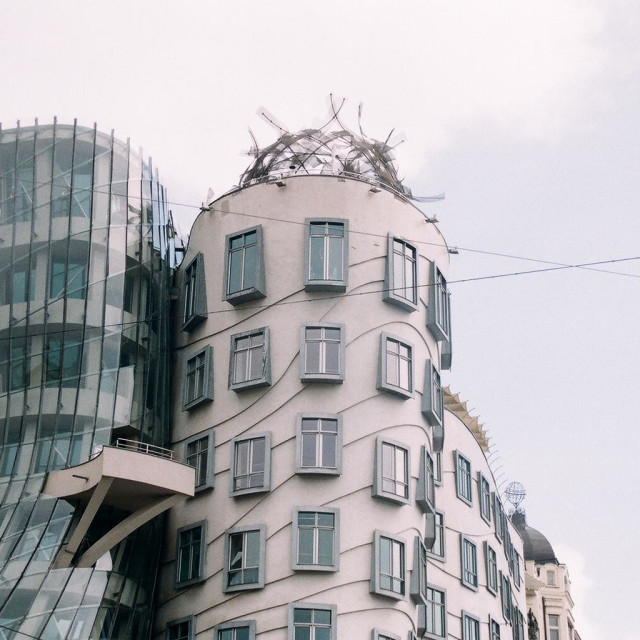 """Dancing House"" stock image"