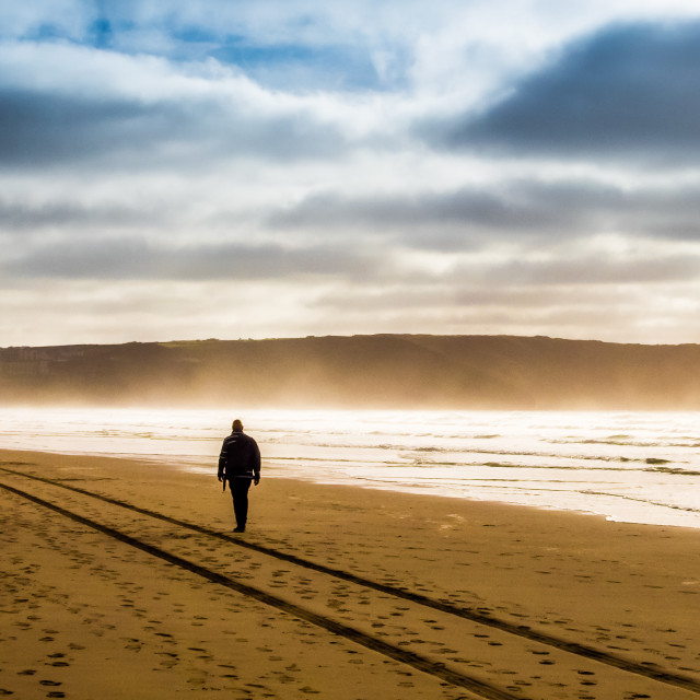 """""""The Lone Walker"""" stock image"""