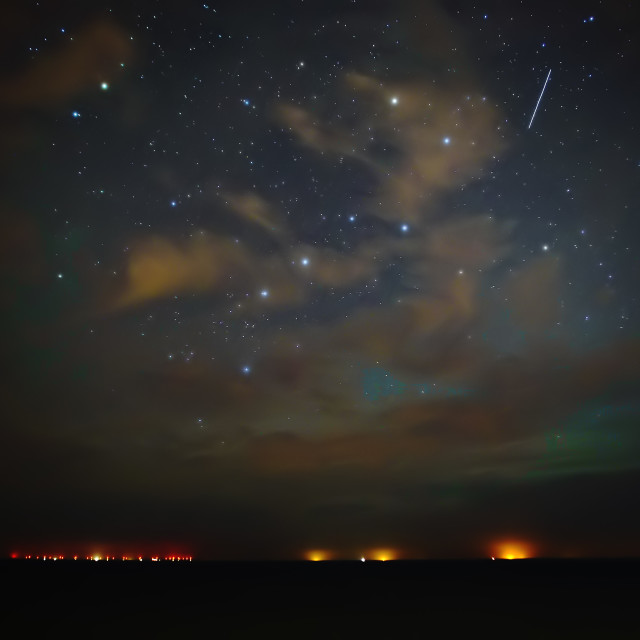 """A Minor Aurora Storm in Cromer, Norfolk"" stock image"