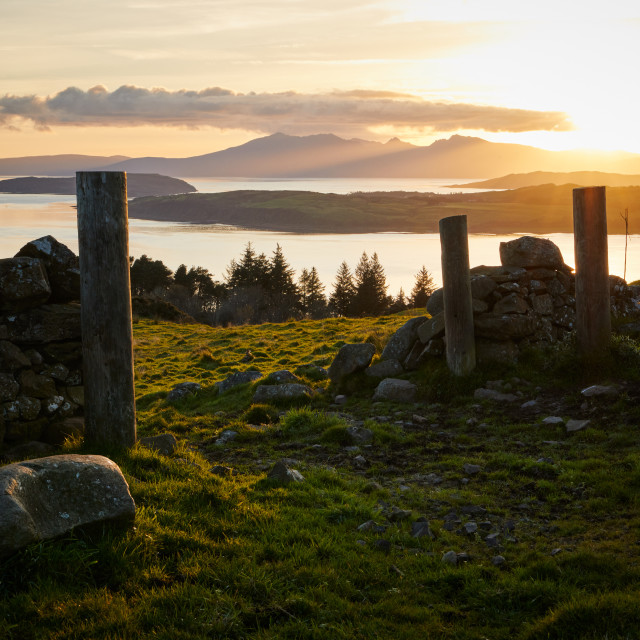 """Sunset above Largs"" stock image"