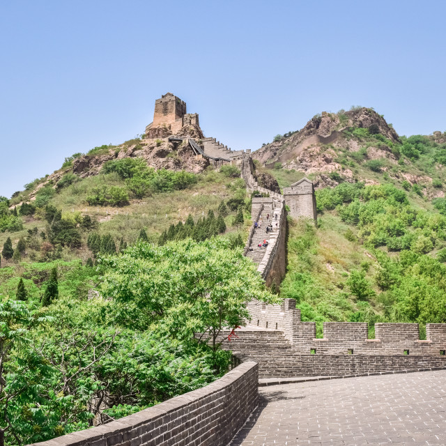 """Section of the Jiaoshan Great Wall"" stock image"