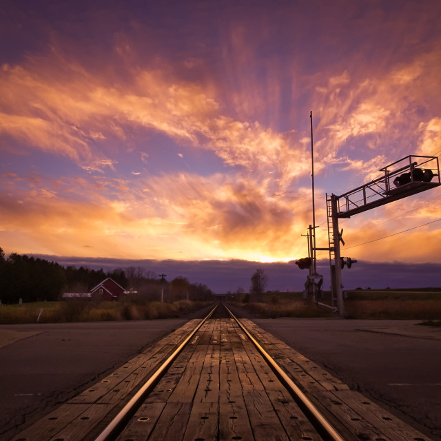 """""""Riding the rails"""" stock image"""