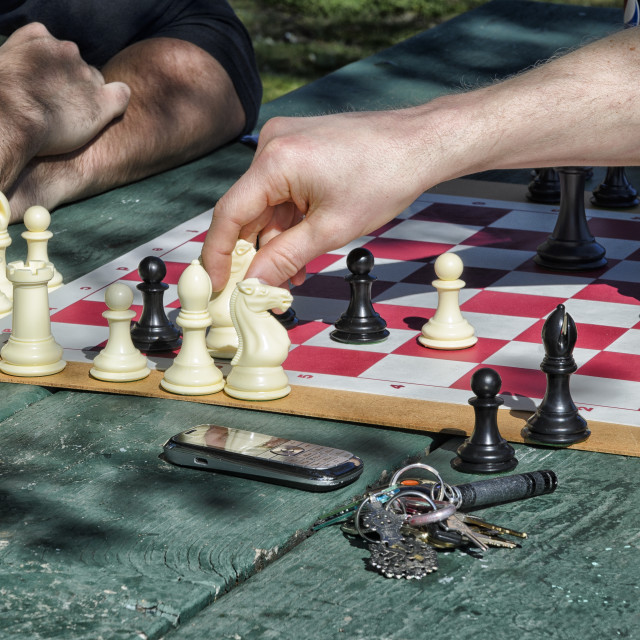 """Game of chess"" stock image"