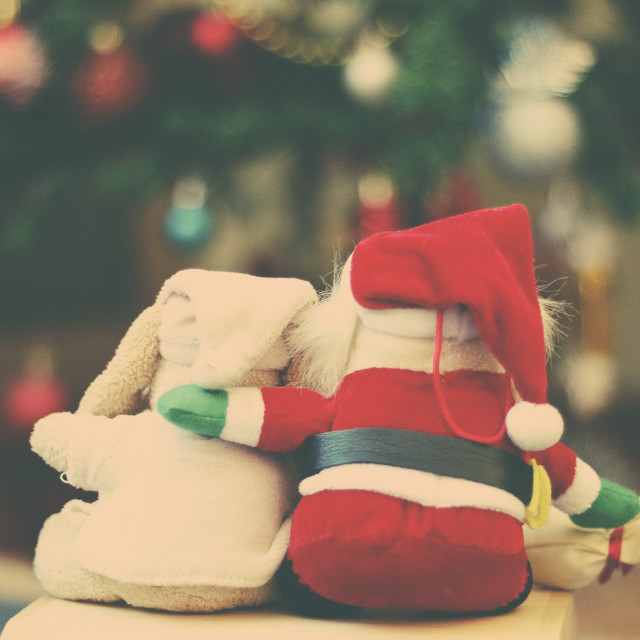"""""""Christmas atmosphere. Christmas soft toy"""" stock image"""