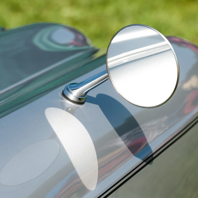 """vintage driving mirror"" stock image"