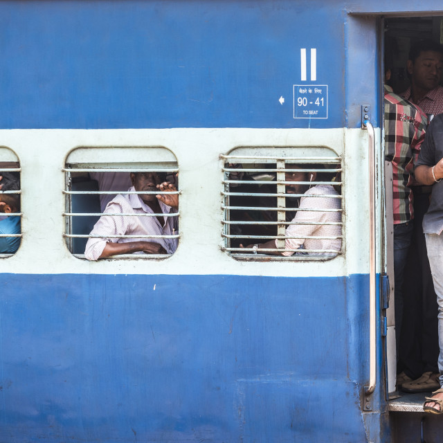 """Train, Kochi (Cochin), Kerala, India"" stock image"