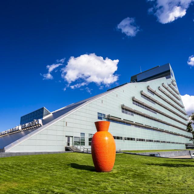 """National Library of Latvia, Riga, Latvia, Baltic States, Europe"" stock image"