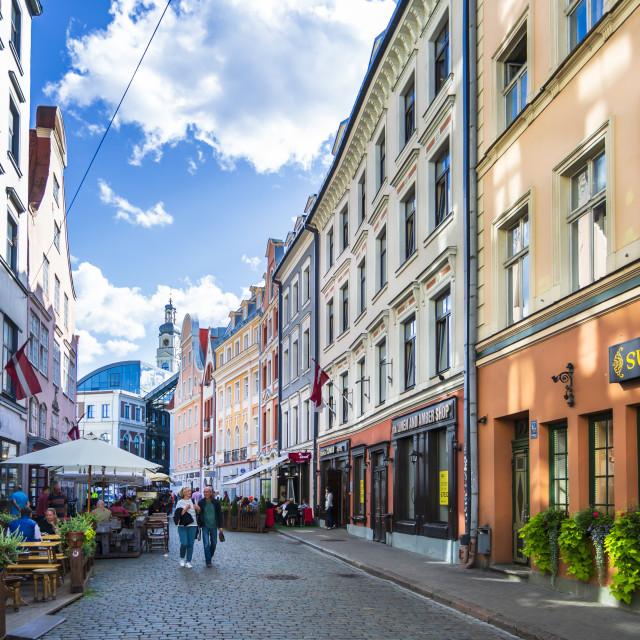 """Old Riga, Latvia, Baltic States, Europe"" stock image"