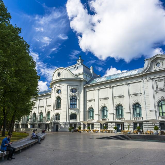 """Latvian National Museum of Art, Riga, Latvia, Baltic States, Europe"" stock image"