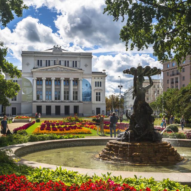 """Latvian National Opera Building, Riga, Latvia, Baltic States, Europe"" stock image"