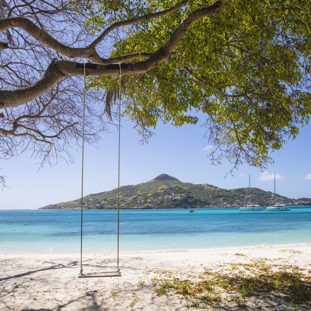 """""""St Vincent and The Grenadines, Petit St Vincent, looking across to Carriacou,..."""" stock image"""