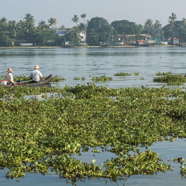 """Fishermen, Fort Kochi (Cochin), Kerala, India"" stock image"