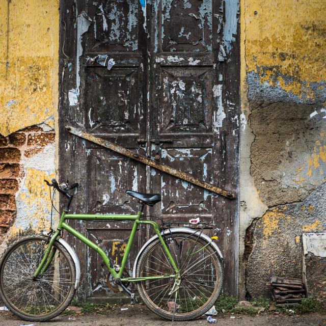 """Street scene, Fort Kochi (Cochin), Kerala, India"" stock image"