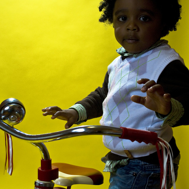 """""""Boy On Tricycle"""" stock image"""