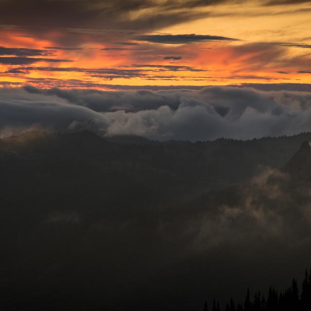 """""""Turbulent Sunset"""" stock image"""