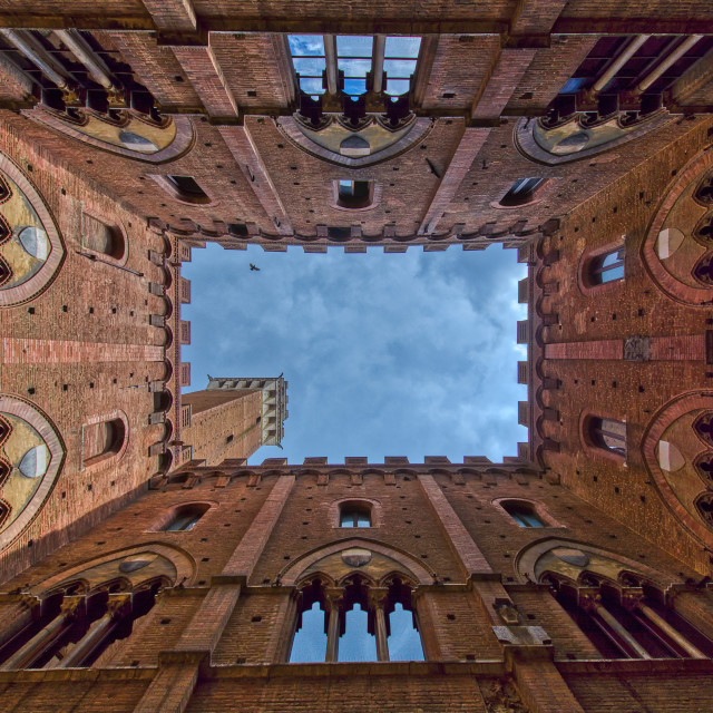 """""""The Palazzo Comunale building in Siena, Italy."""" stock image"""