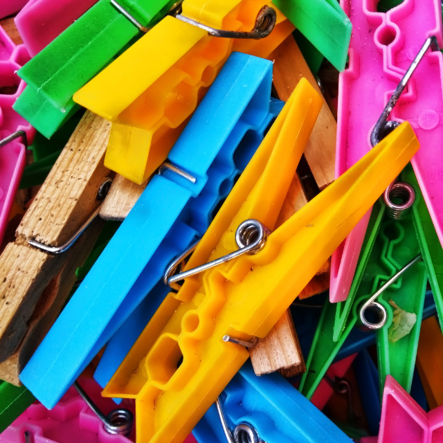 """""""These are Peg's pegs"""" stock image"""