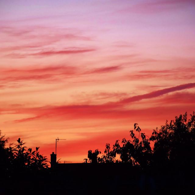 """""""Sunset over Dorset"""" stock image"""