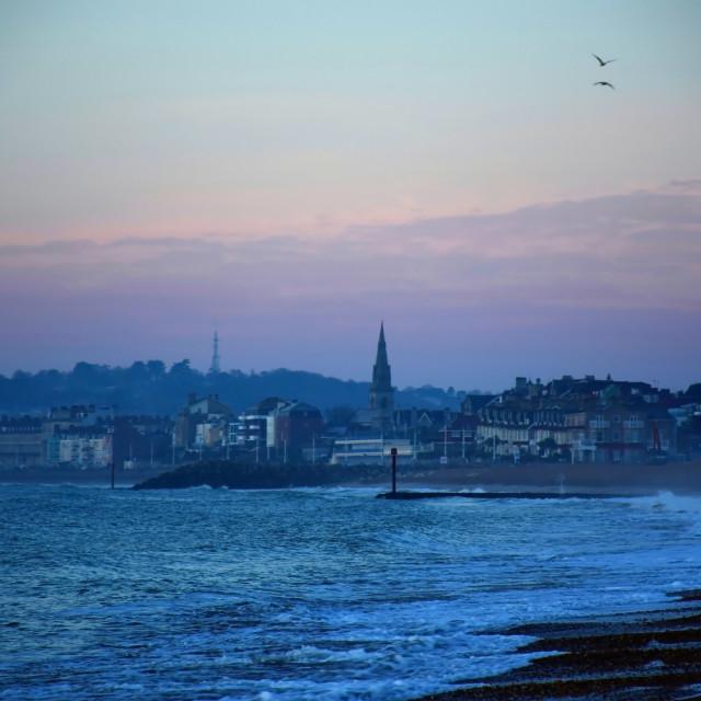 """Weymouth Awakes in its glory"" stock image"