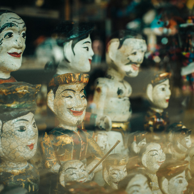 """WOODEN PUPPETS"" stock image"
