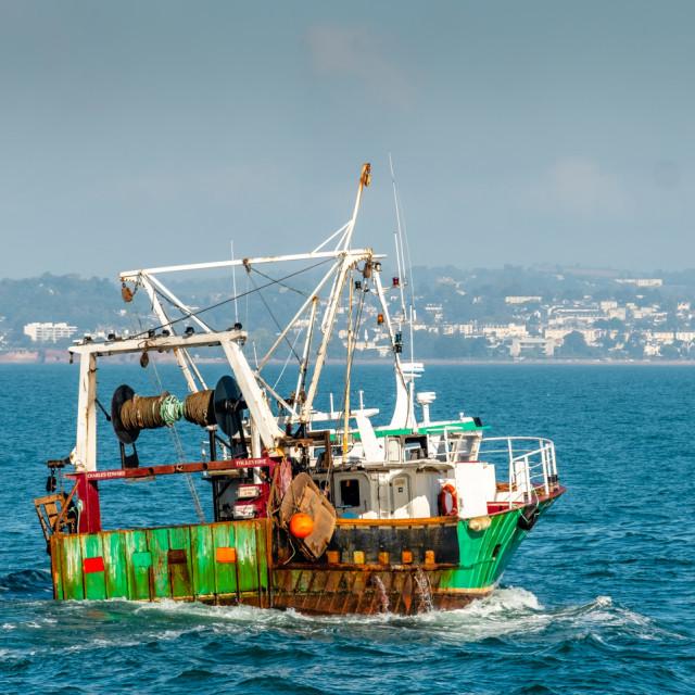 """""""Trawler - Brixham"""" stock image"""