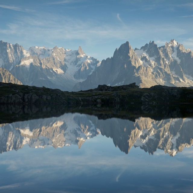 """Lac des Cheserys"" stock image"