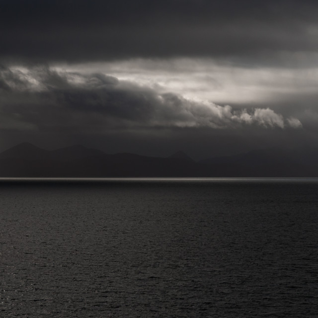 """View across The Minch to the Isle of Skye"" stock image"