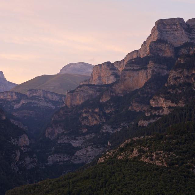 """""""Canyon Anisclo Sunset"""" stock image"""