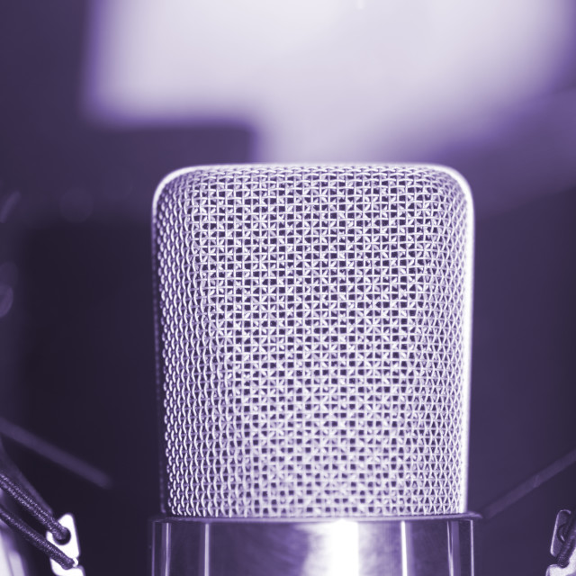 """Recording studio voice microphone"" stock image"