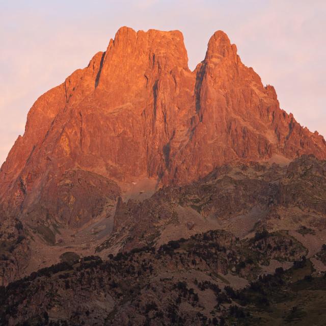 """MIdi D'Ossau sunset"" stock image"