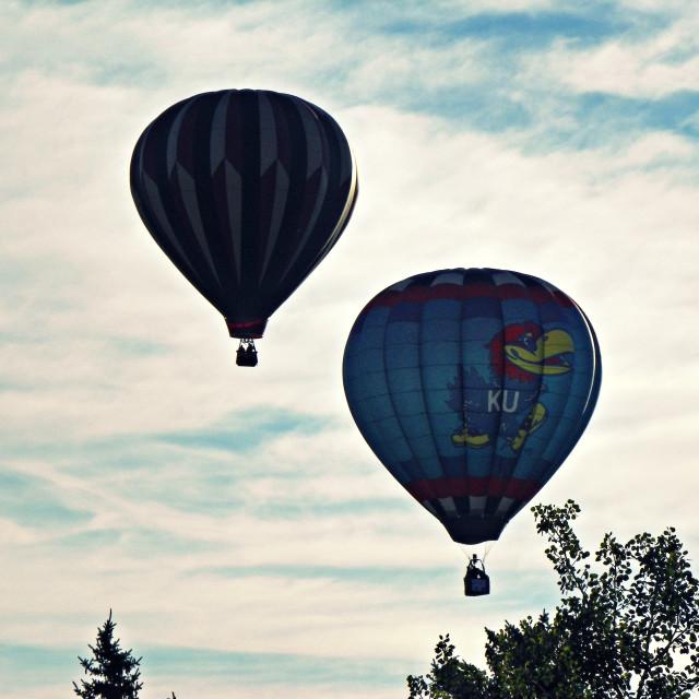 """""""Balloons Departing"""" stock image"""