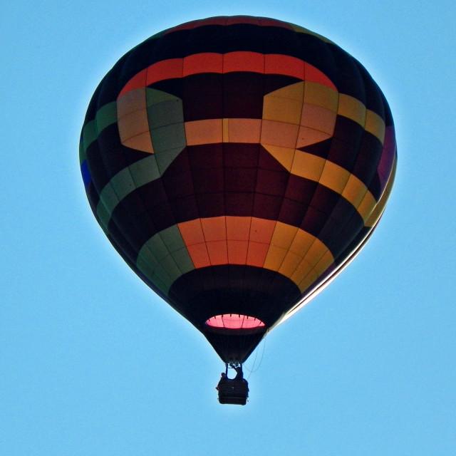 """""""Sun-Illumined Balloon"""" stock image"""