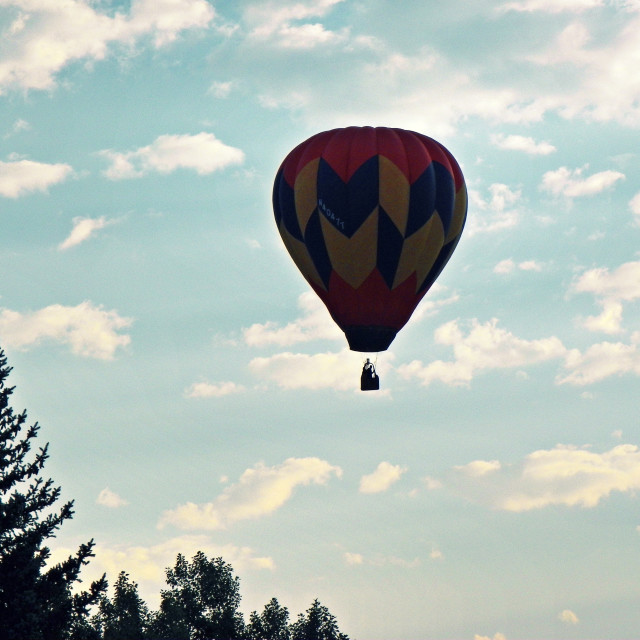 """Dawn Balloon"" stock image"
