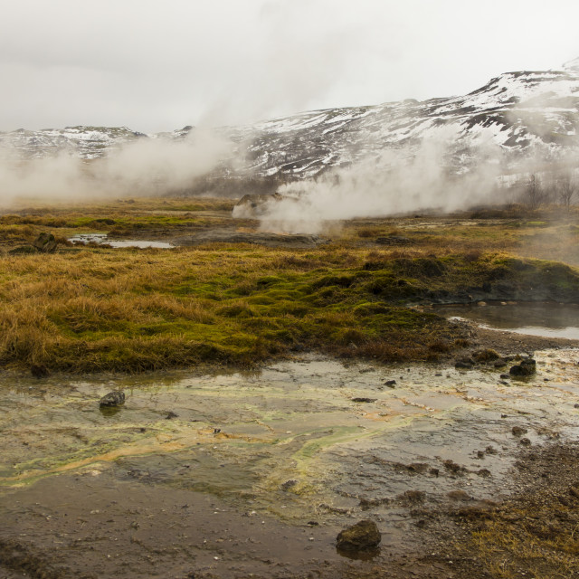 """""""Multicolored hot springs, Iceland"""" stock image"""