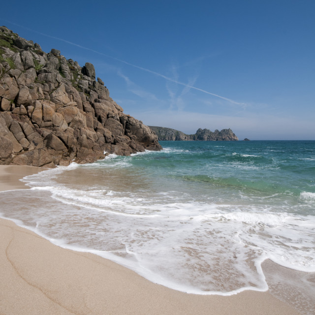 """Beach in Cornwall"" stock image"
