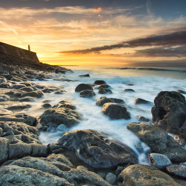 """""""Porthcawl lighthouse"""" stock image"""