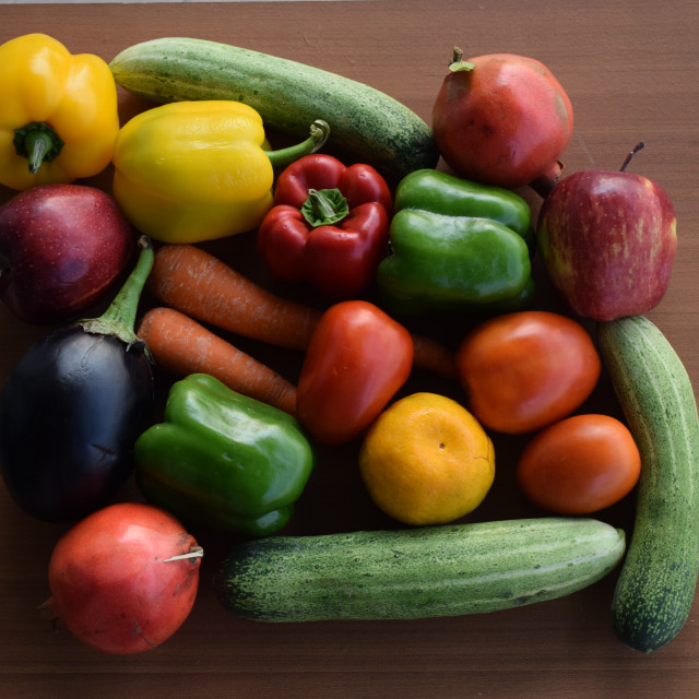 """""""Fresh Fruits and Vegetables"""" stock image"""