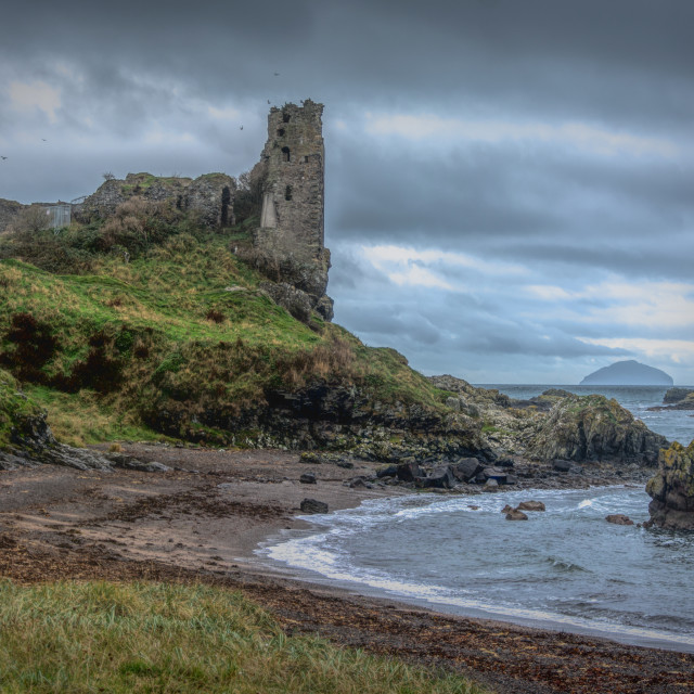 """Dunure Castle"" stock image"