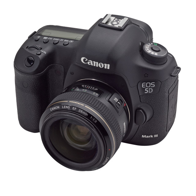 """""""Canon DSLR EOS 5D MkIII"""" stock image"""
