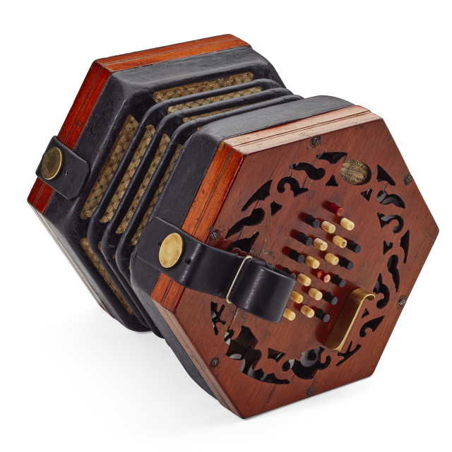 """Lachenal & Co concertina"" stock image"