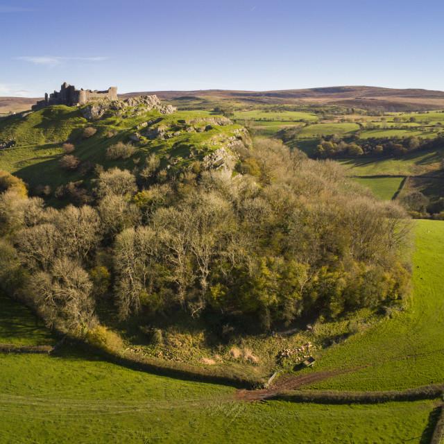 """Carreg Cennan Castle"" stock image"
