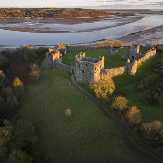 """""""Llansteffan Castle"""" stock image"""
